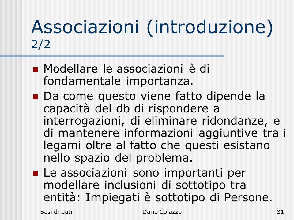 Associazioni (introduzione) 2/2