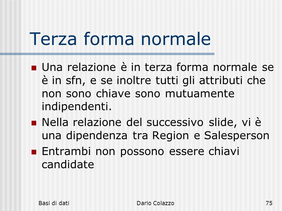 Terza forma normale