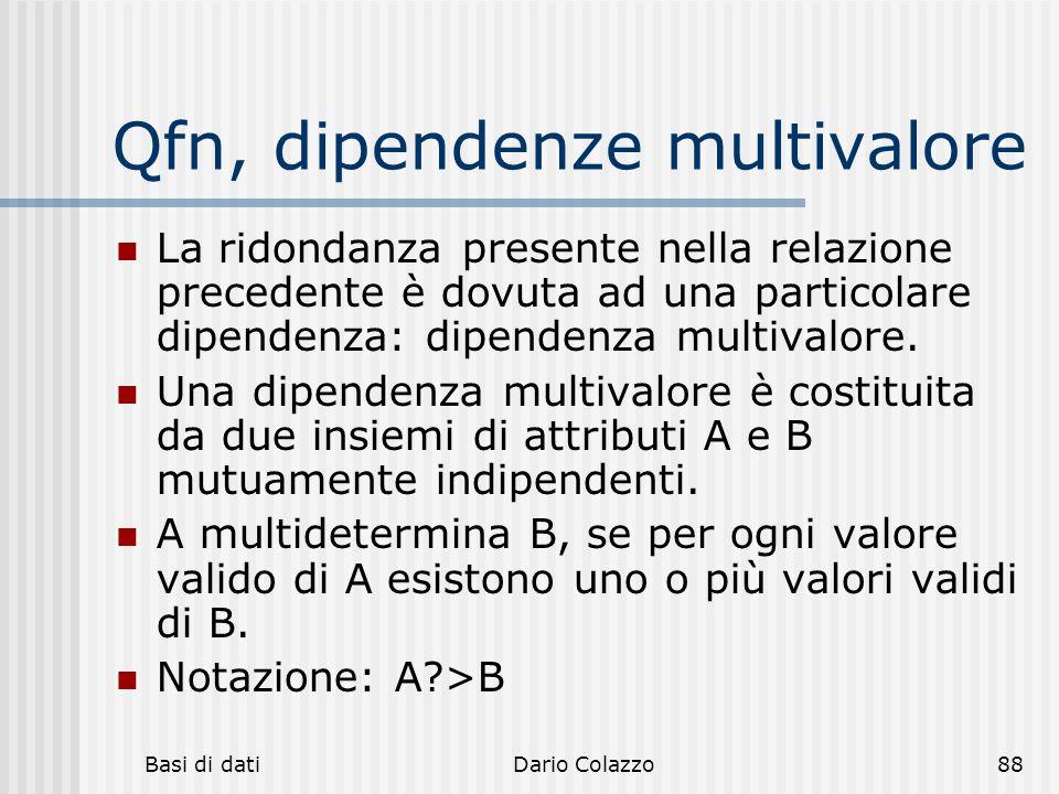 Qfn, dipendenze multivalore