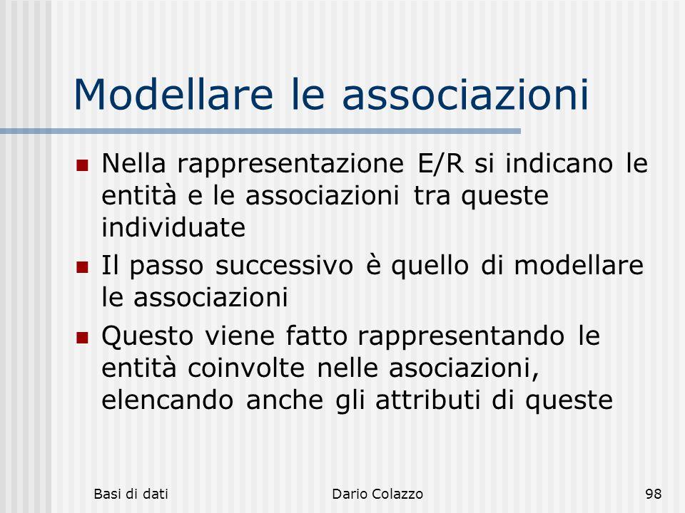 Modellare le associazioni