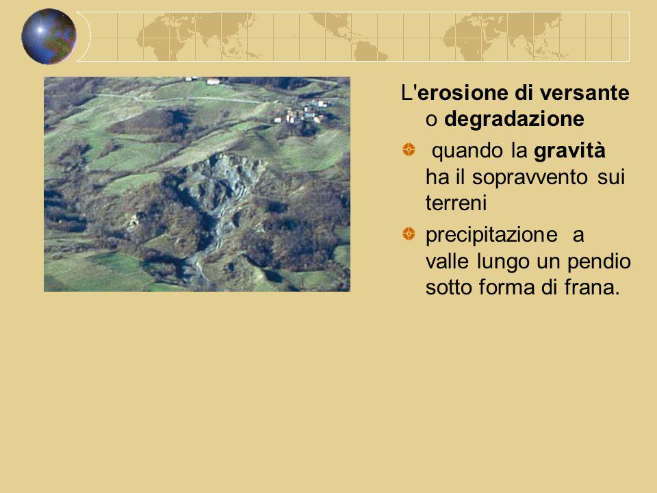 L erosione di versante o degradazione
