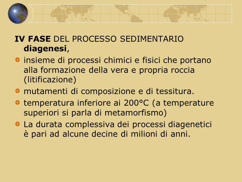 IV FASE DEL PROCESSO SEDIMENTARIO diagenesi,