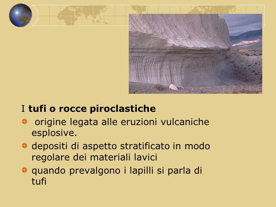 I tufi o rocce piroclastiche