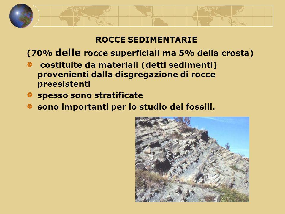 (70% delle rocce superficiali ma 5% della crosta)