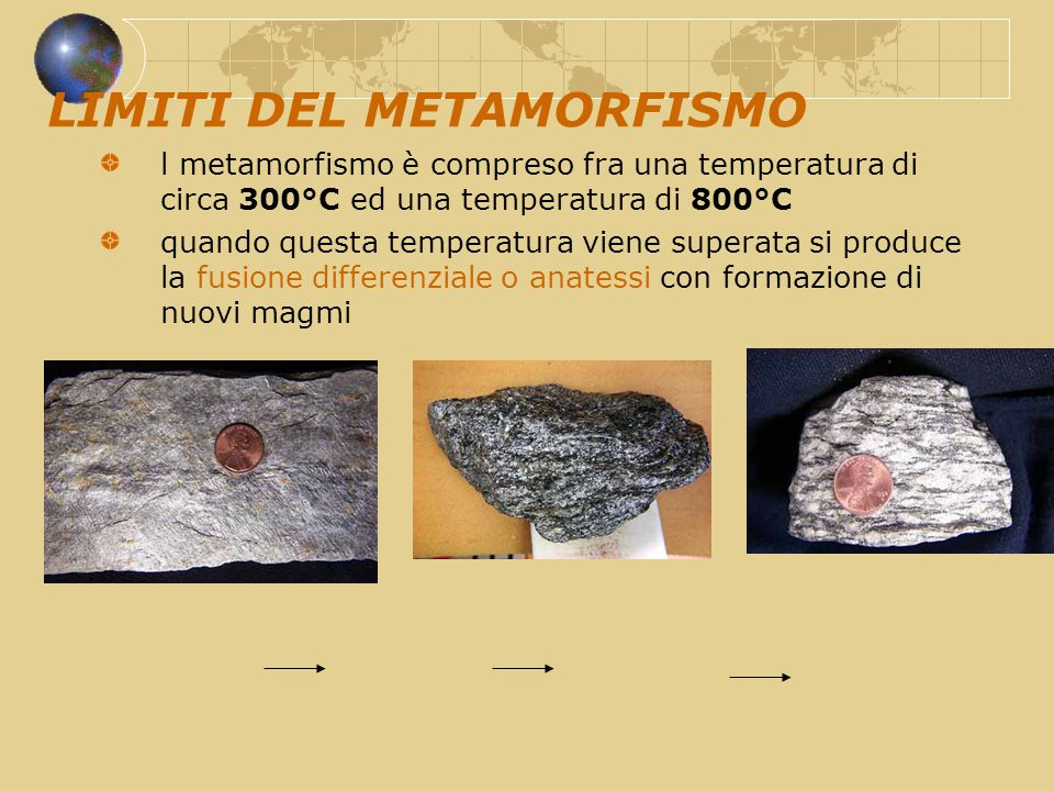 LIMITI DEL METAMORFISMO