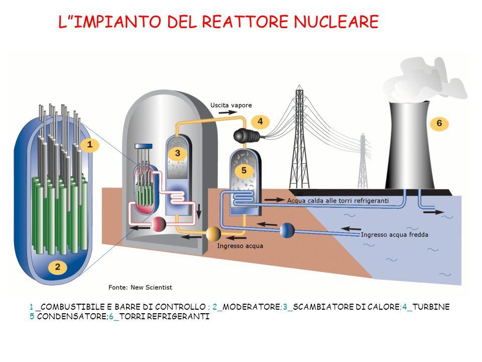 L IMPIANTO DEL REATTORE NUCLEARE