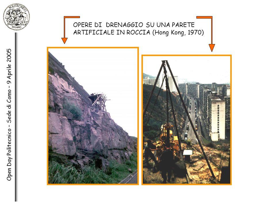 OPERE DI DRENAGGIO SU UNA PARETE ARTIFICIALE IN ROCCIA (Hong Kong, 1970)