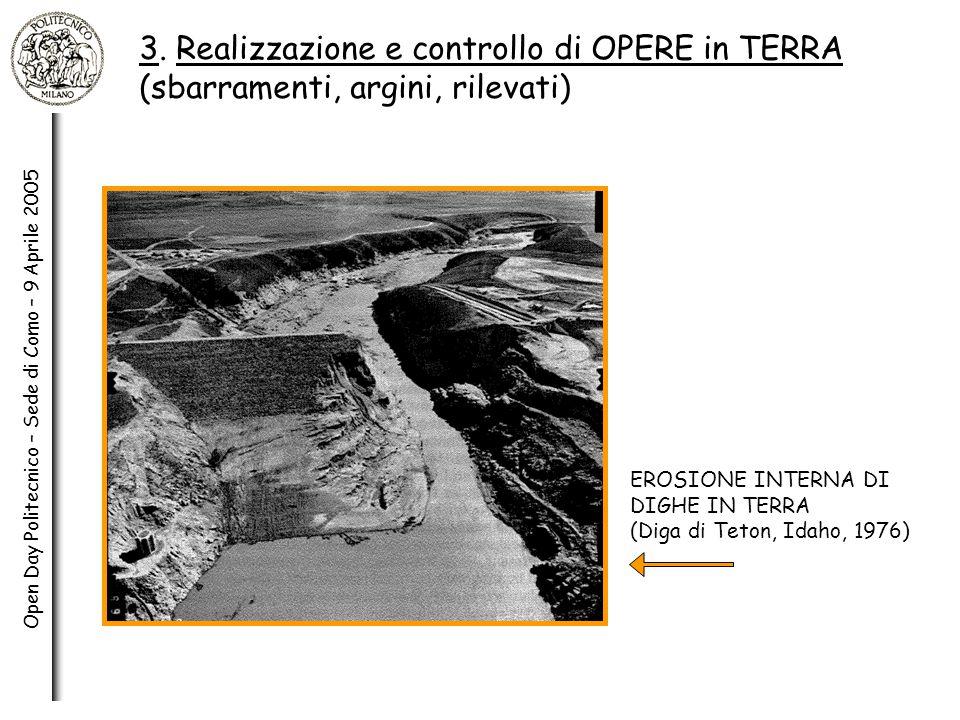 3. Realizzazione e controllo di OPERE in TERRA