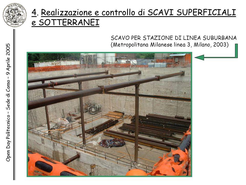 4. Realizzazione e controllo di SCAVI SUPERFICIALI e SOTTERRANEI