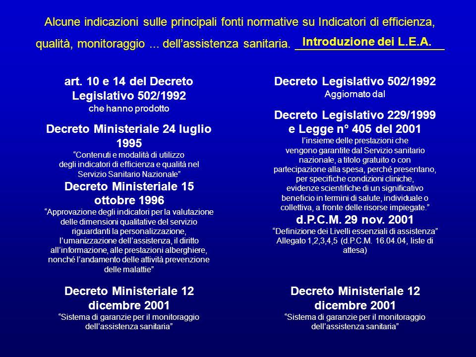 Decreto Ministeriale 12 dicembre 2001