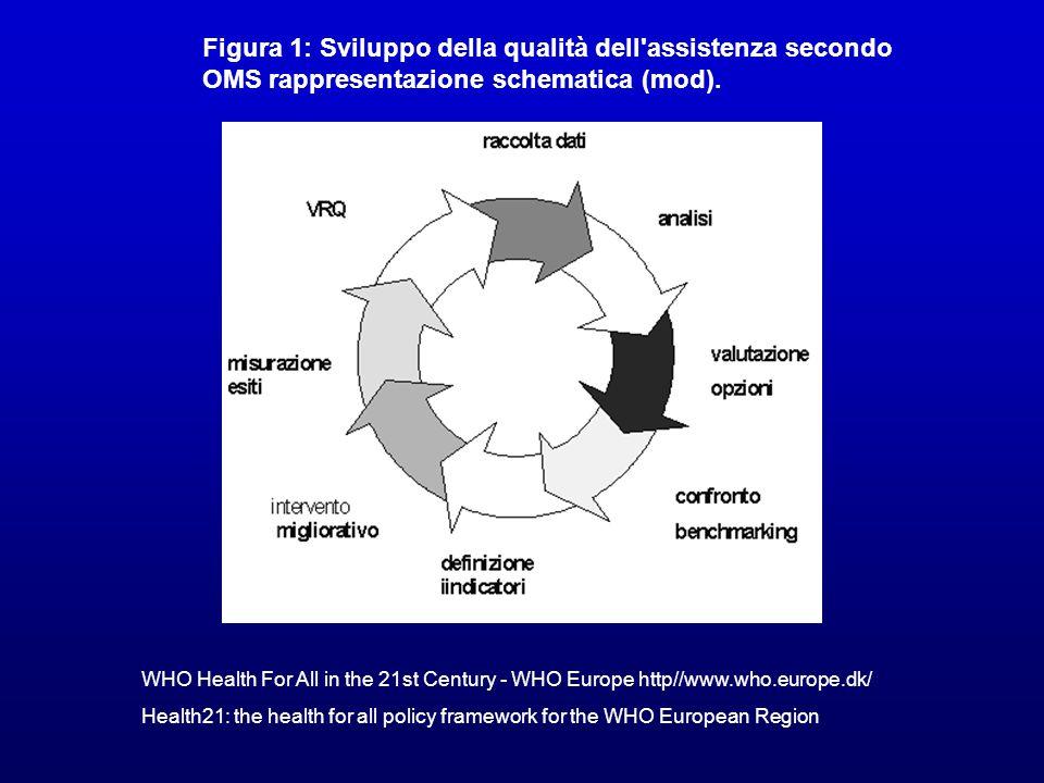 Figura 1: Sviluppo della qualità dell assistenza secondo OMS rappresentazione schematica (mod).
