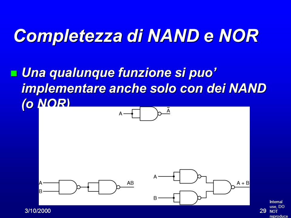Completezza di NAND e NOR