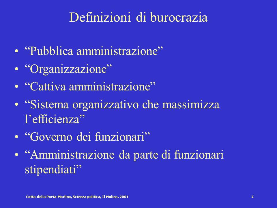 Definizioni di burocrazia