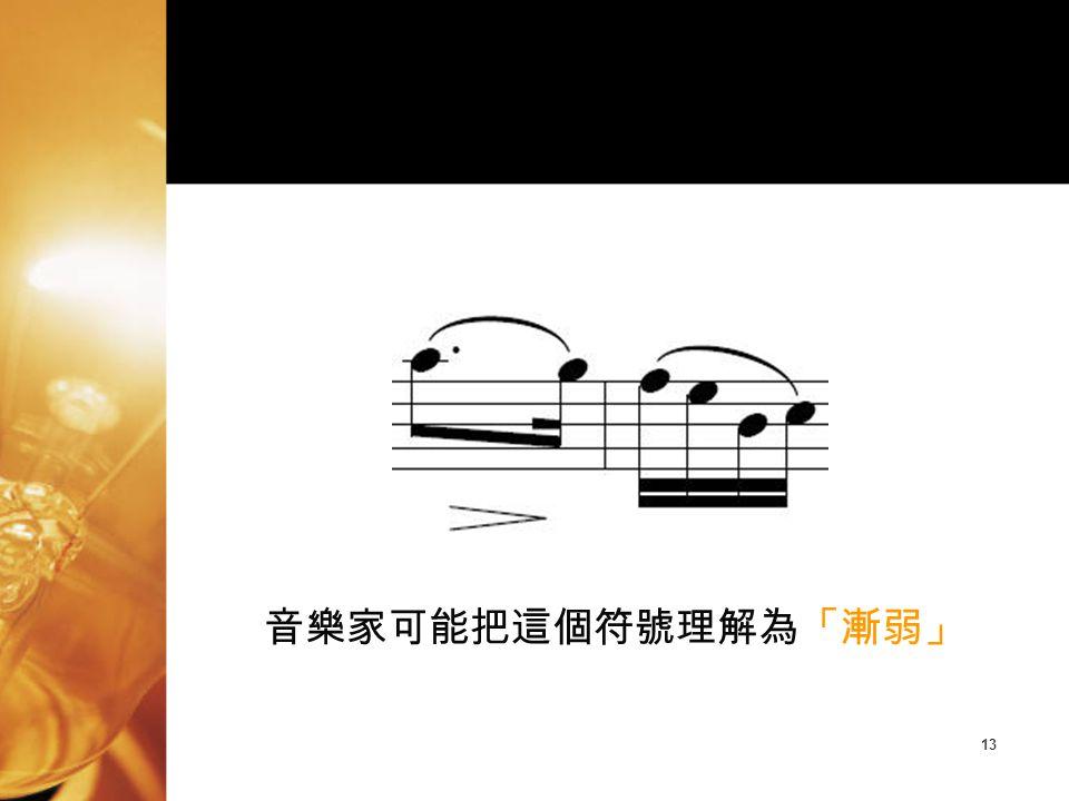 音樂家可能把這個符號理解為「漸弱」