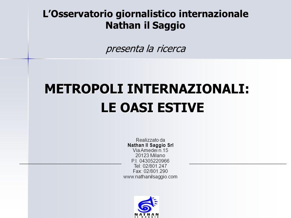 METROPOLI INTERNAZIONALI: LE OASI ESTIVE