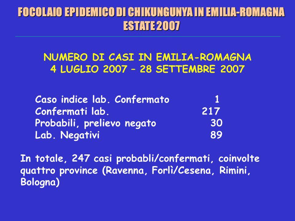 FOCOLAIO EPIDEMICO DI CHIKUNGUNYA IN EMILIA-ROMAGNA ESTATE 2007