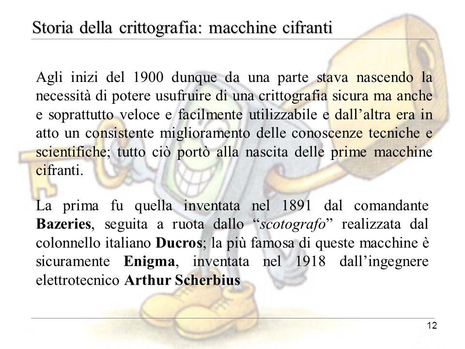 Storia della crittografia: macchine cifranti