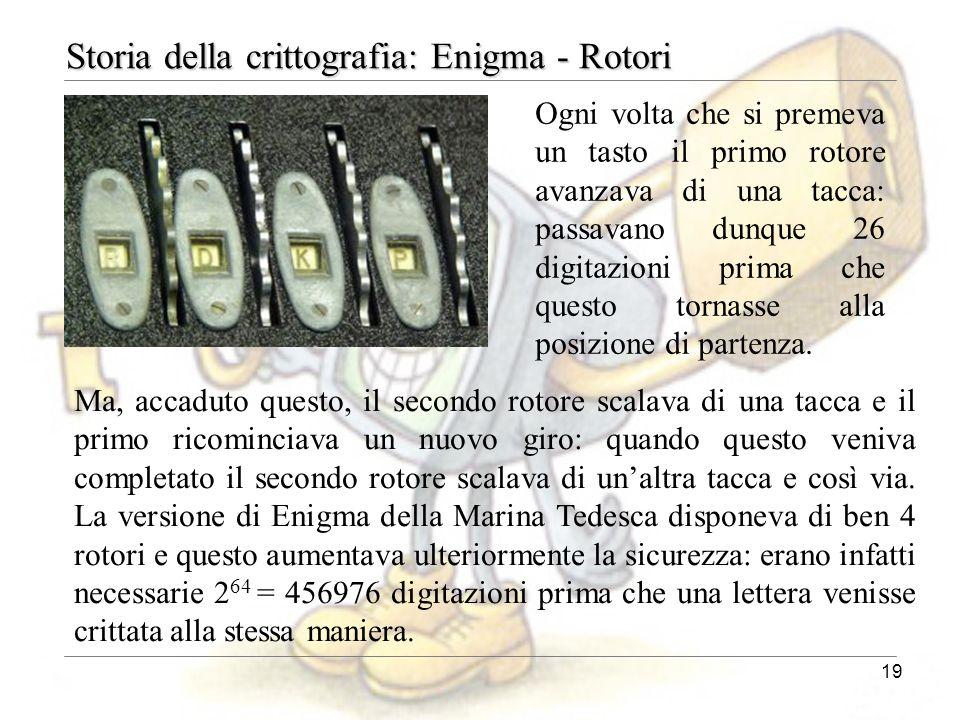 Storia della crittografia: Enigma - Rotori
