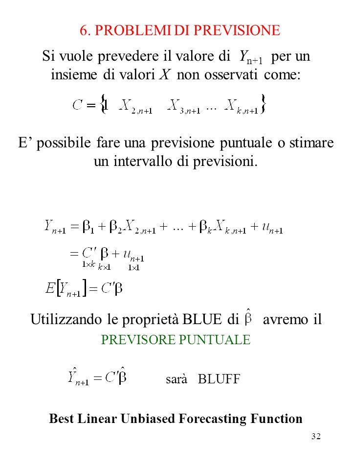 6. PROBLEMI DI PREVISIONE