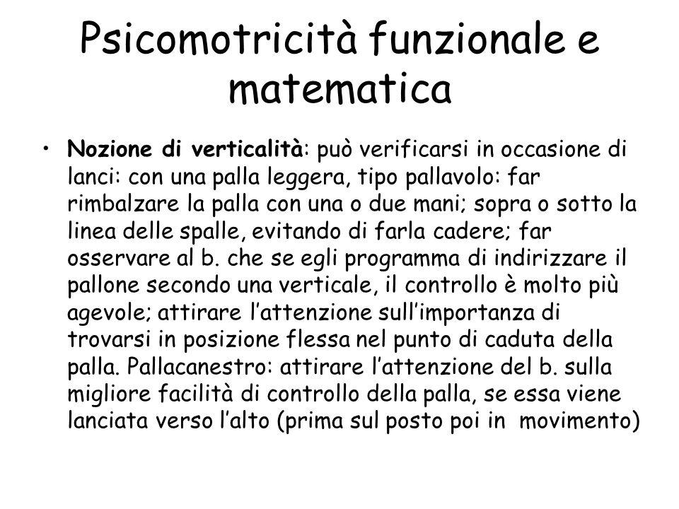 Psicomotricità funzionale e matematica