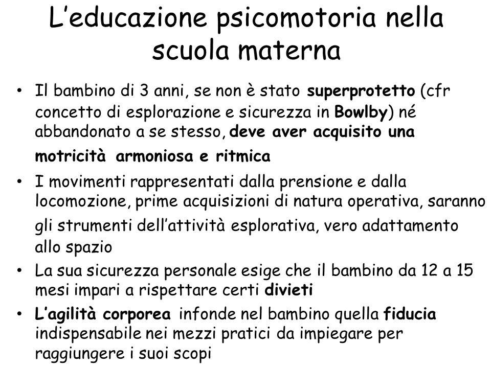 L'educazione psicomotoria nella scuola materna