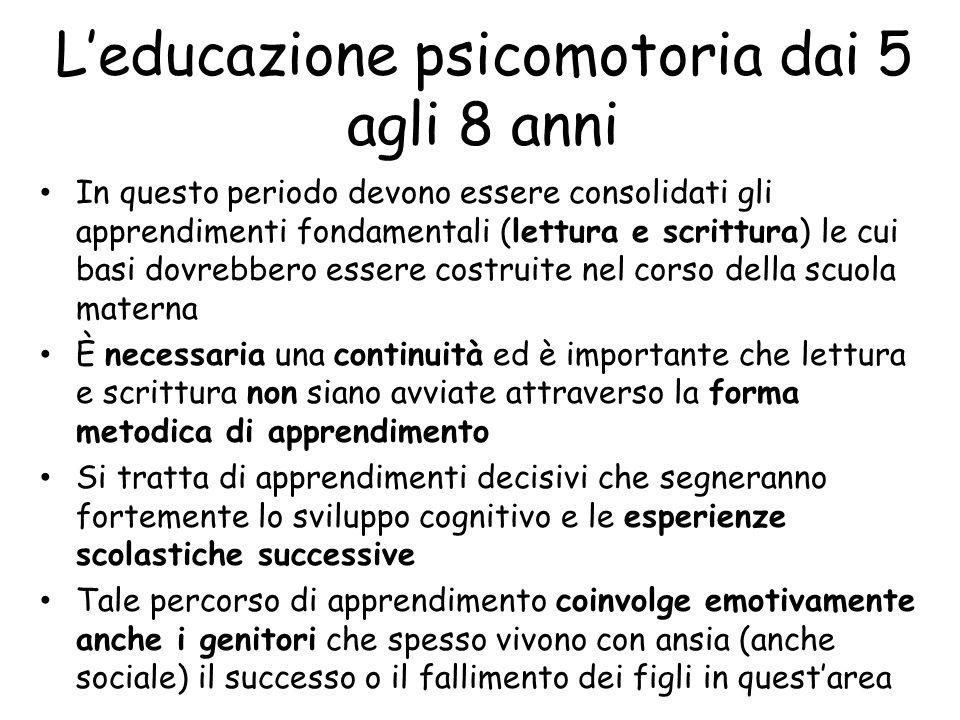 L'educazione psicomotoria dai 5 agli 8 anni