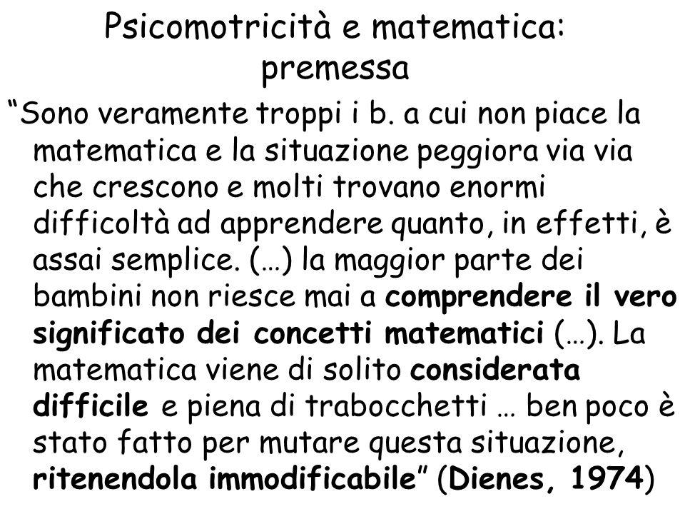 Psicomotricità e matematica: premessa