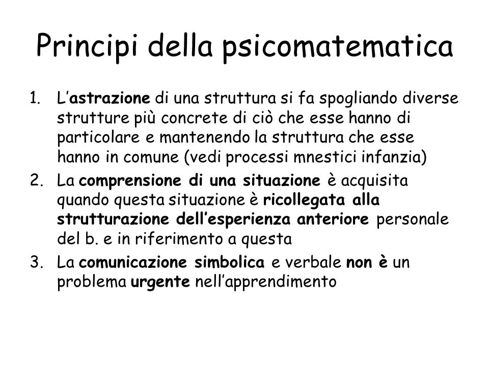 Principi della psicomatematica