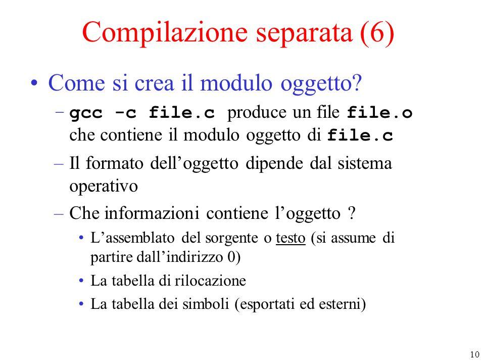 Compilazione separata (6)