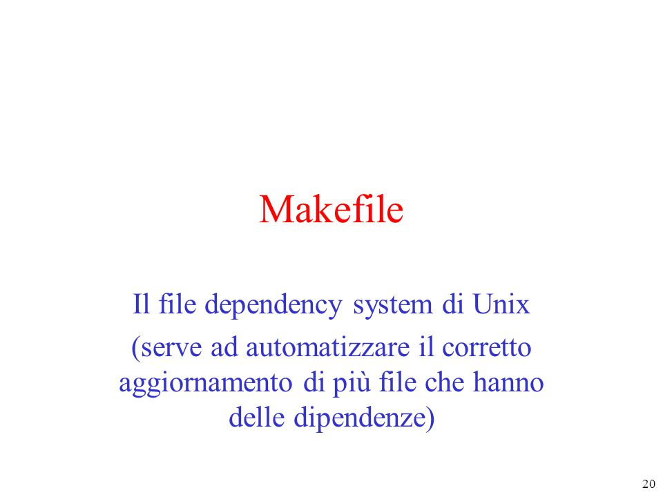 Il file dependency system di Unix