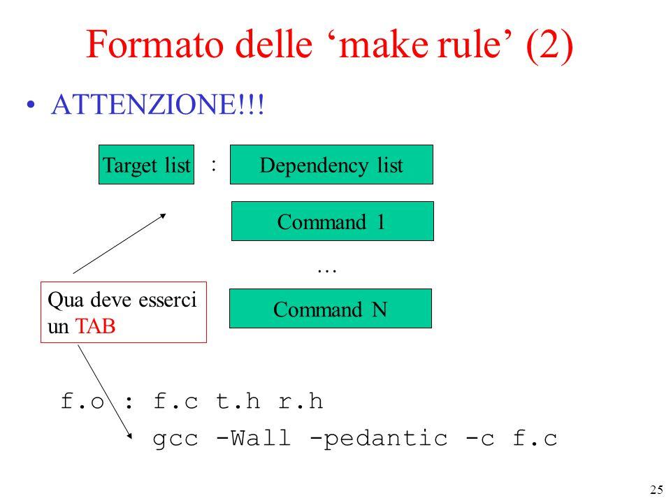 Formato delle 'make rule' (2)