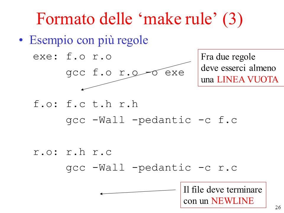 Formato delle 'make rule' (3)