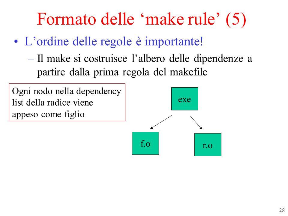 Formato delle 'make rule' (5)