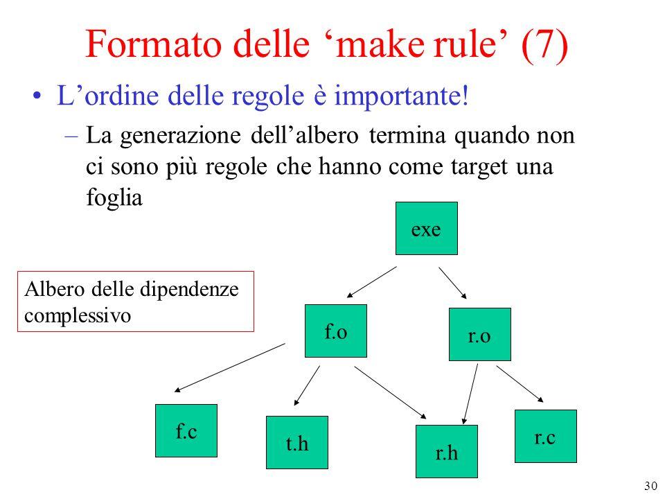 Formato delle 'make rule' (7)