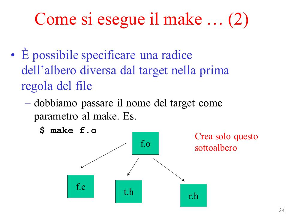 Come si esegue il make … (2)