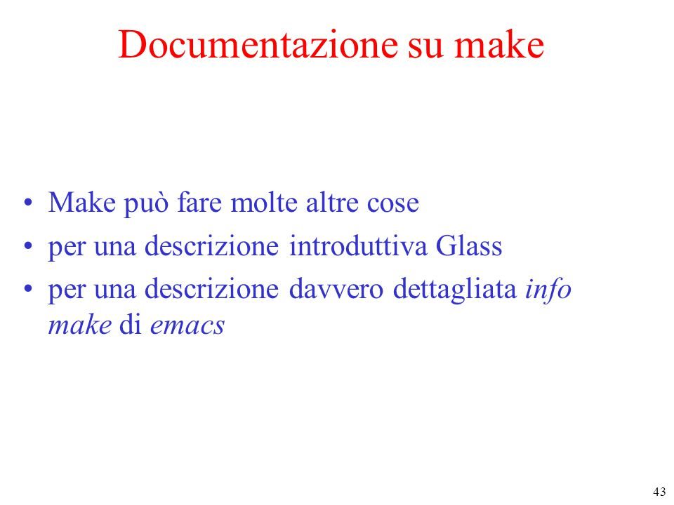 Documentazione su make