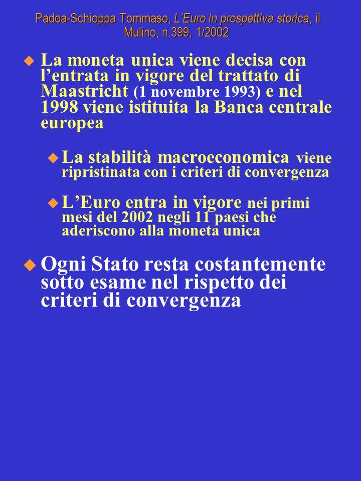 Padoa-Schioppa Tommaso, L'Euro in prospettiva storica, il Mulino, n