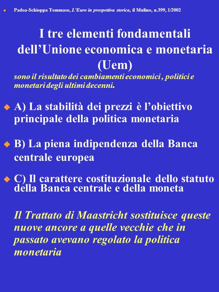 I tre elementi fondamentali dell'Unione economica e monetaria (Uem)