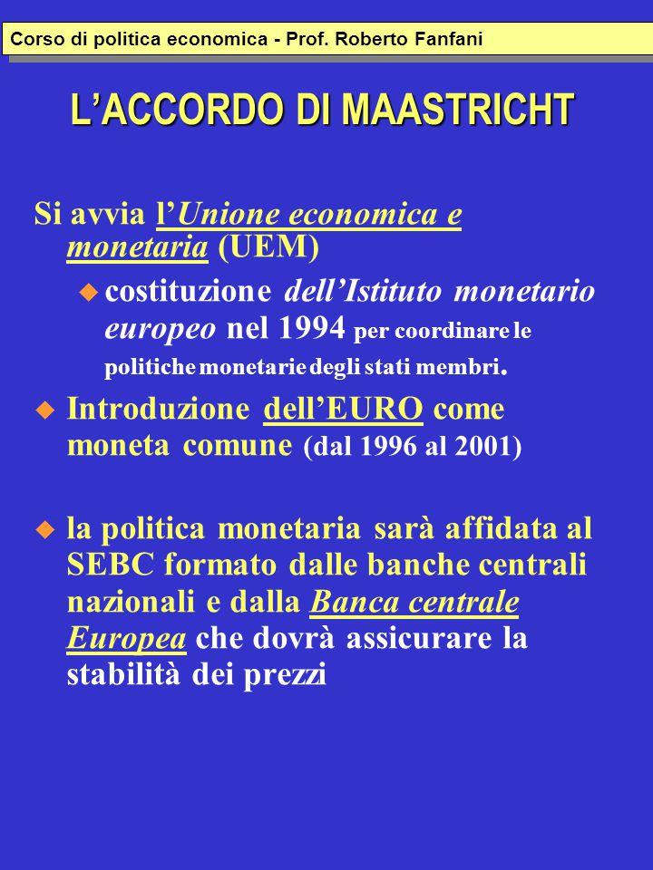 L'ACCORDO DI MAASTRICHT