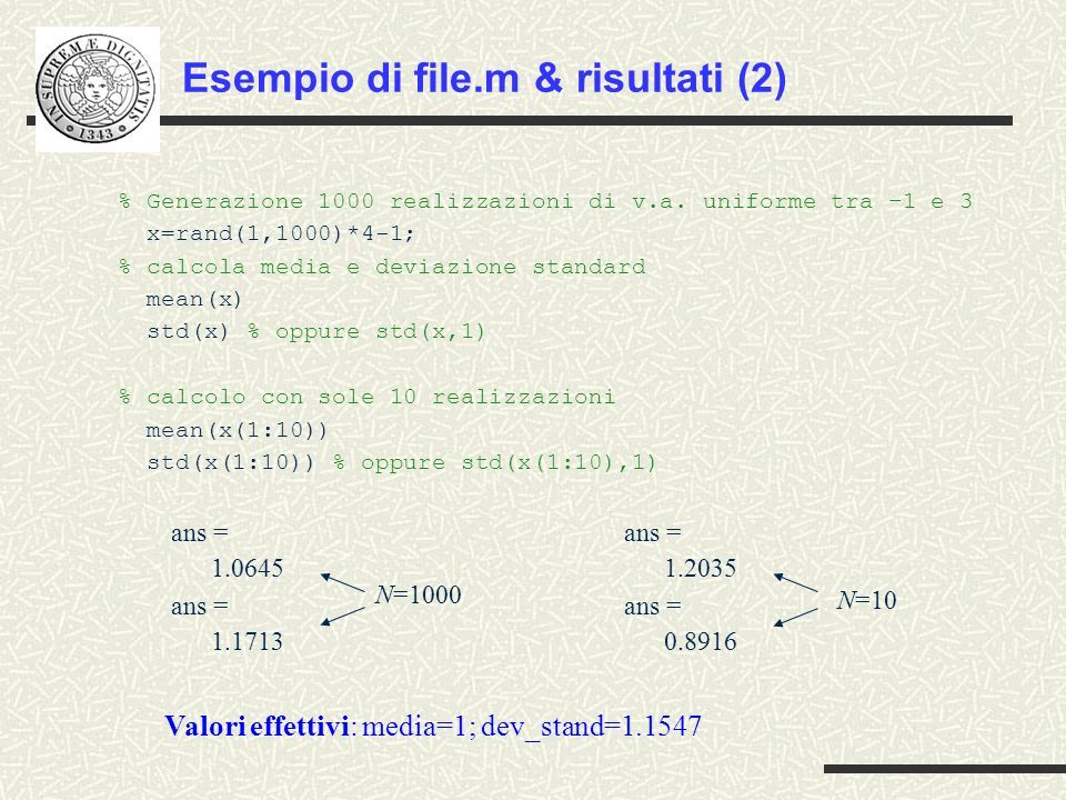 Esempio di file.m & risultati (2)