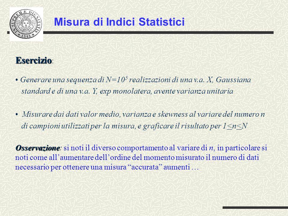Misura di Indici Statistici