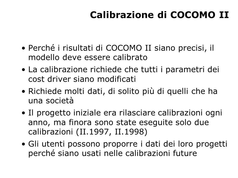 Calibrazione di COCOMO II