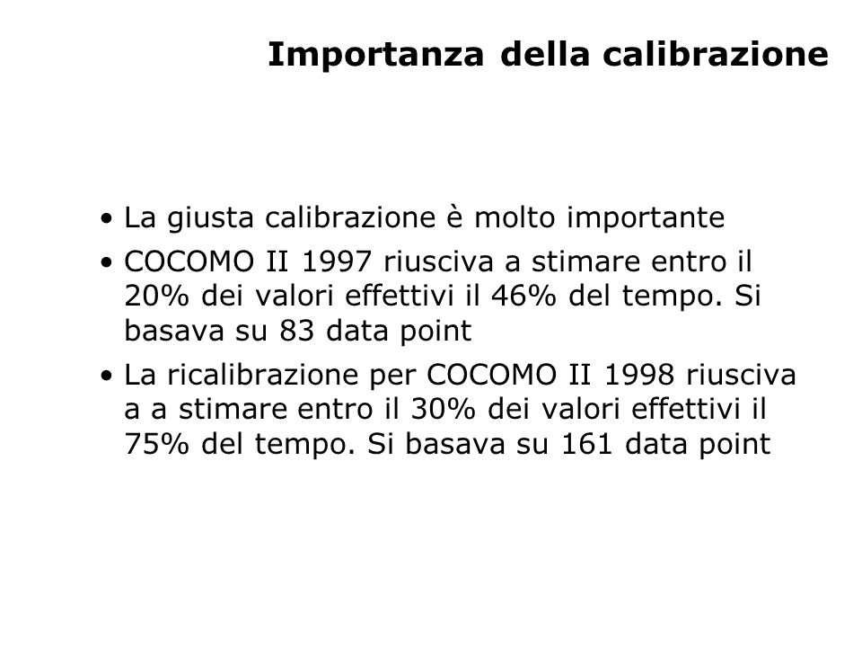 Importanza della calibrazione