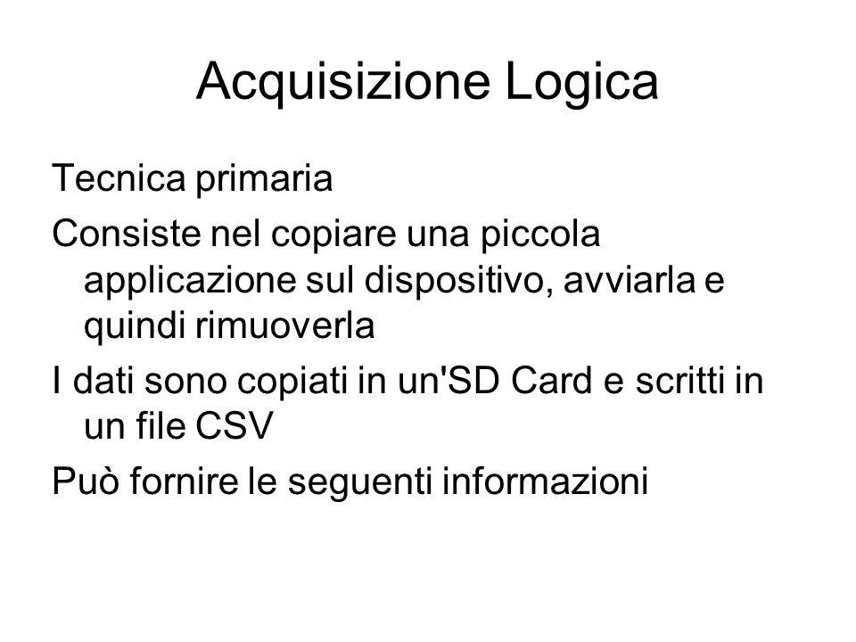 Acquisizione Logica Tecnica primaria