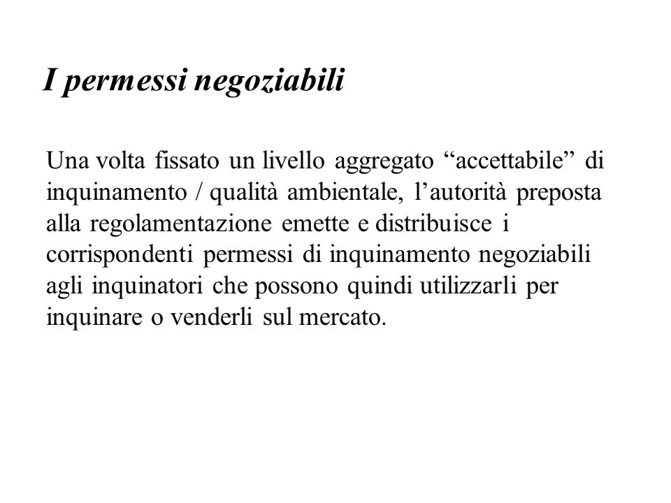 I permessi negoziabili