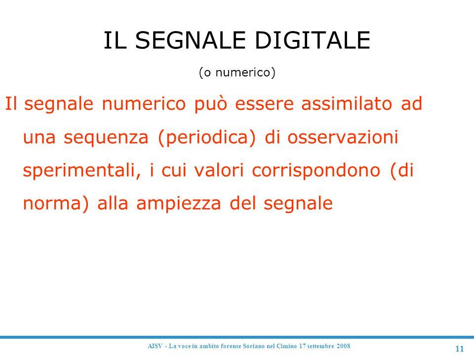 IL SEGNALE DIGITALE (o numerico)