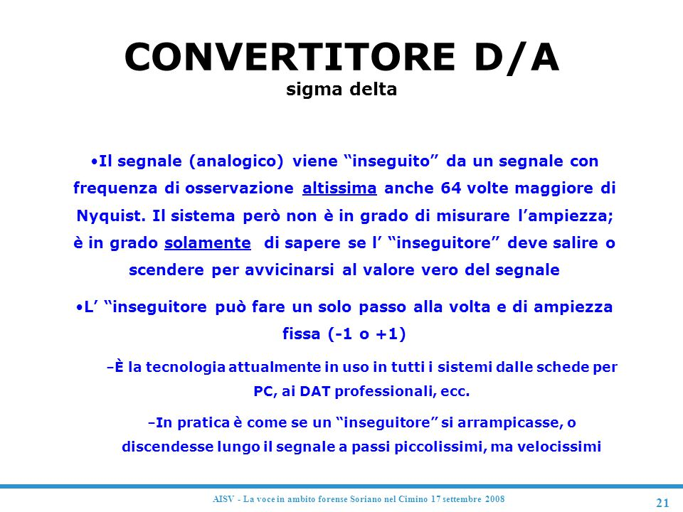 CONVERTITORE D/A sigma delta