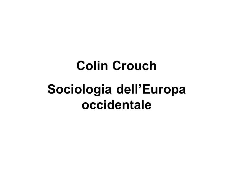 Sociologia dell'Europa occidentale