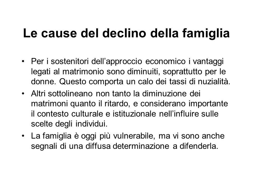 Le cause del declino della famiglia