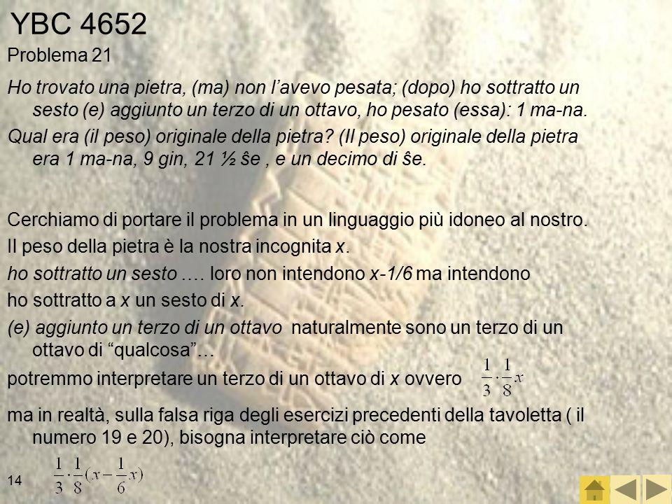 YBC 4652 Problema 21.